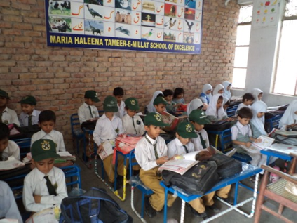 Grade 5 Classroom in Maria-Helena Primary School, Dharyala Jalip, Jhelum